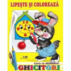 Ghicitori - Iepure - Lipeste si coloreaza. Carte cu abtibilduri