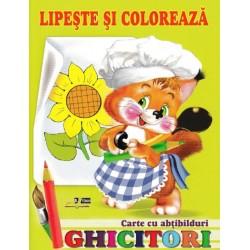 Ghicitori - Veverita - Lipeste si coloreaza. Carte cu abtibilduri