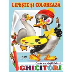 Ghicitori - Gasca - Lipeste si coloreaza. Carte cu abtibilduri
