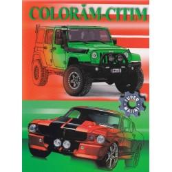 Supermasini - Carte de colorat
