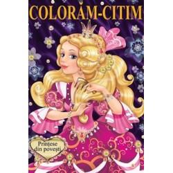Printese din povesti – Carte de colorat